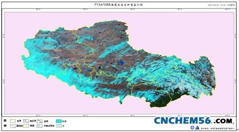 西藏地区积雪卫星监测图(2013年2月21日12时20分)   西藏地区降水量